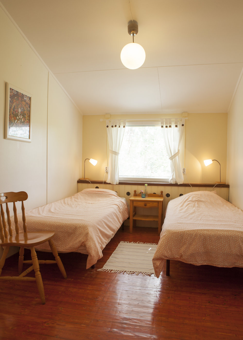 Cosy and comfortable living in double rooms.