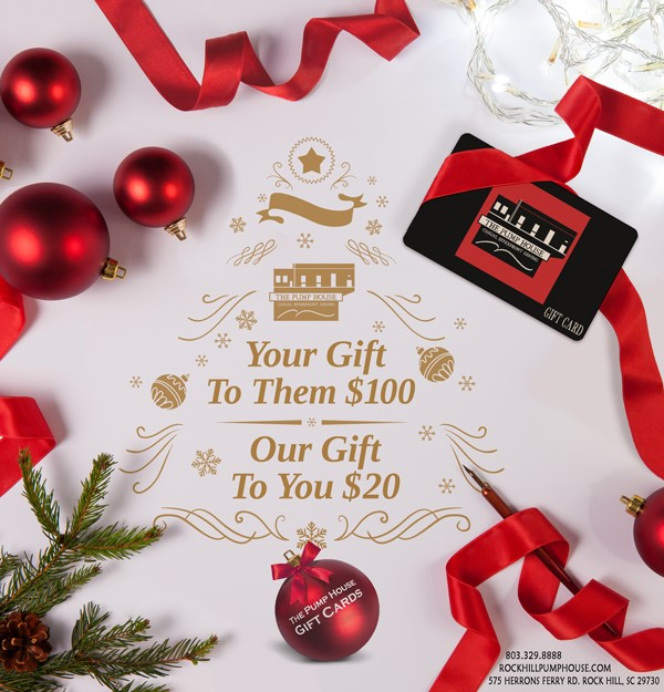 The Pump House Holiday Gift Cards