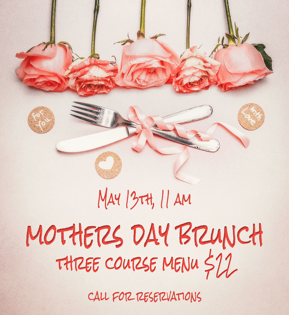 Special Mother's Day Menu