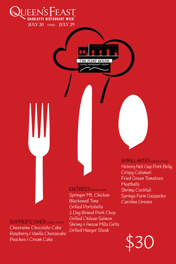 Pump House Restaurant Week Menu