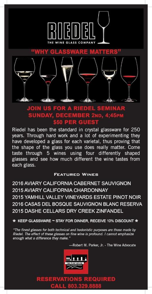Riedel Wine Seminar - Pump House