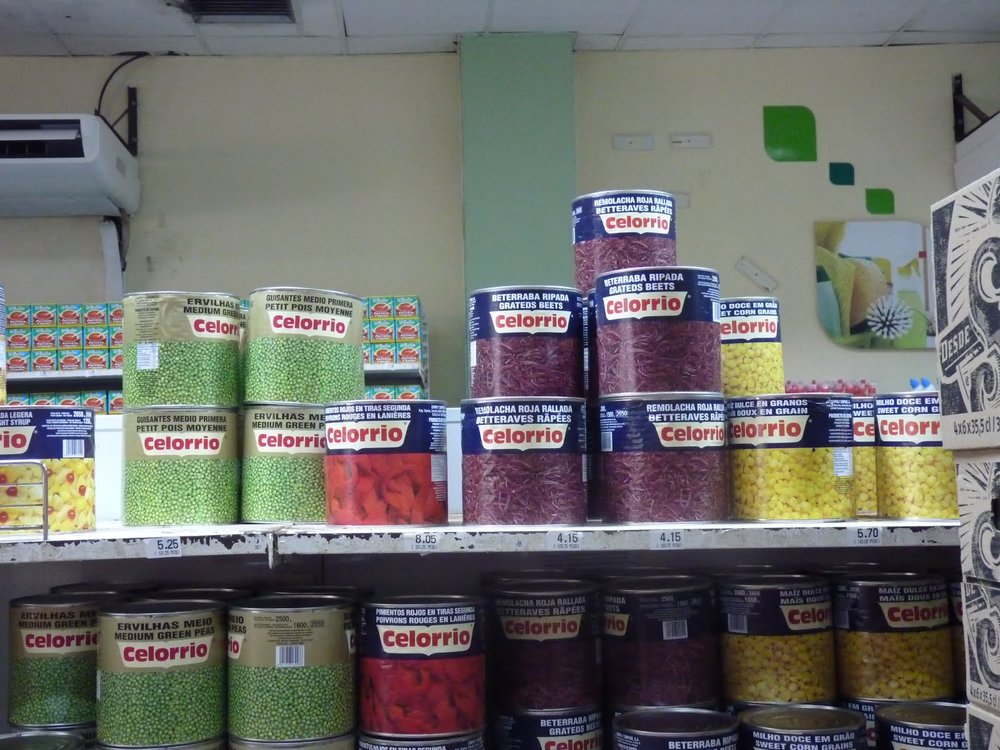 Canned veggies.