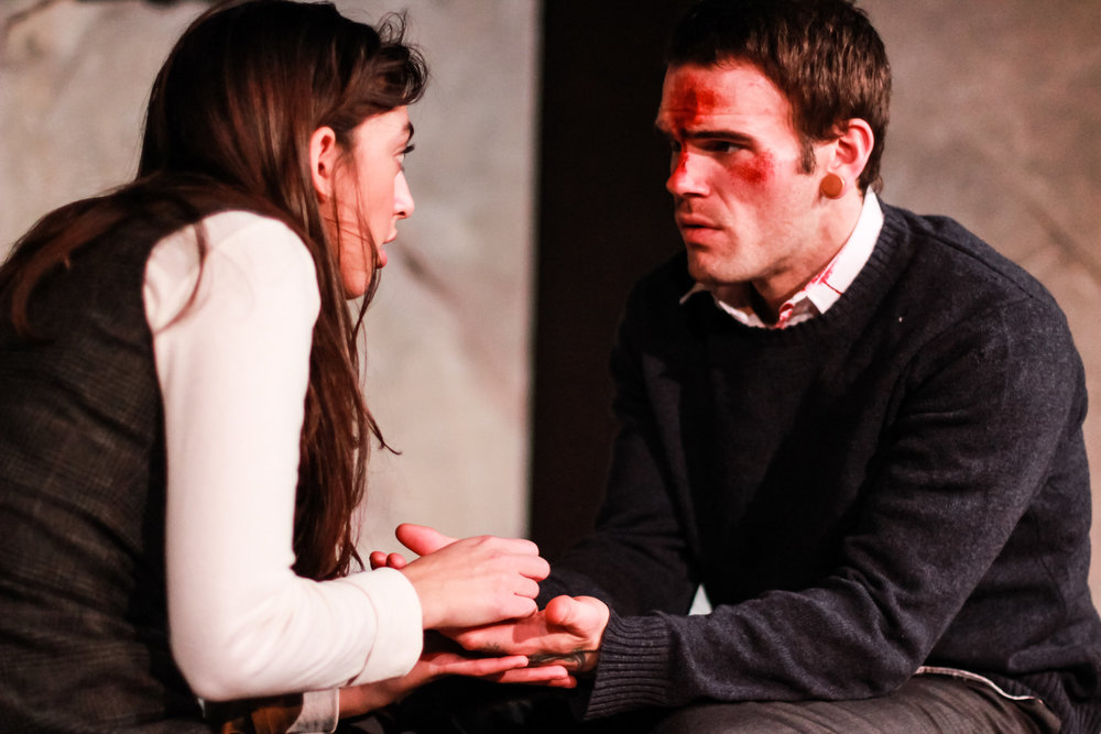 Solana Ramírez-García and Rob Schreiner as Kayleen and Doug in  Gruesome Playground Injuries  with the Constructivists (Milwaukee)