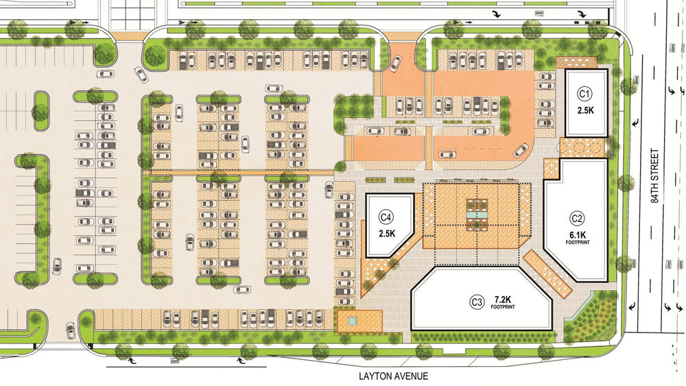 The Lokal site plan.  Four buildings, up to 31,600 SF available.