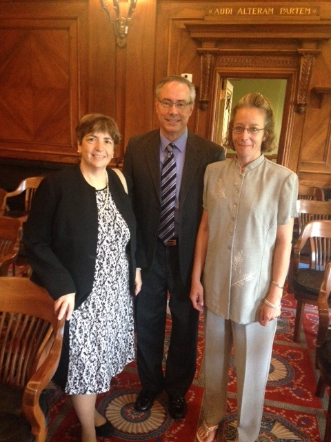 Diane has worked on dozens of friend of the court briefs in federal and state courts, including the United States Supreme Court. Here she is pictured with Louis Milot and his client Heather M. at Louis's successful argument on Heather's behalf at the Illinois Supreme Court ( In re M.M.).