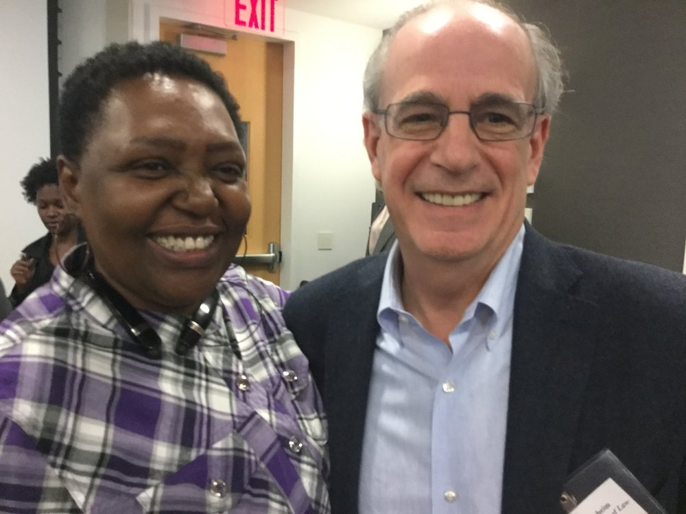 Joyce McMillan and Marty Guggenheim at the first Family Defender Conference at a law school (CUNY, April 2016).