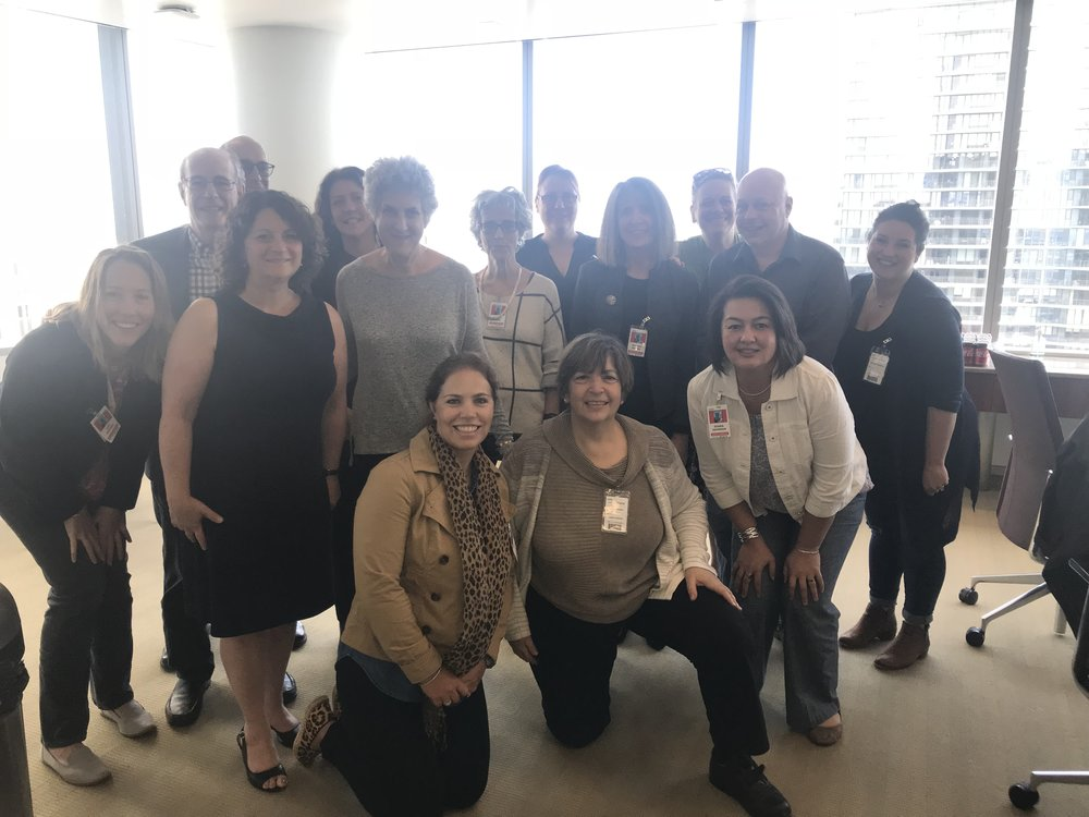 Diane works on strengthening state and national advocacy networks as a member of the ABA's National Alliance for Parent Representation, pictured at a Chicago meeting in May 2018.