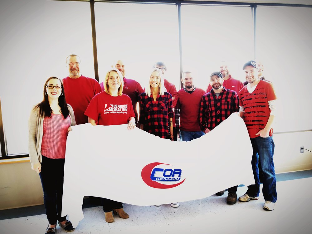 From left to right: Meghan McFarland, Steve Butler, Meghan White, Travis Lawrence, Christina Keefe, Logan Nelson, Jason Rousseau, Mike Conley, John Cloutier, Ryan Rousseau, and Dan Grover.