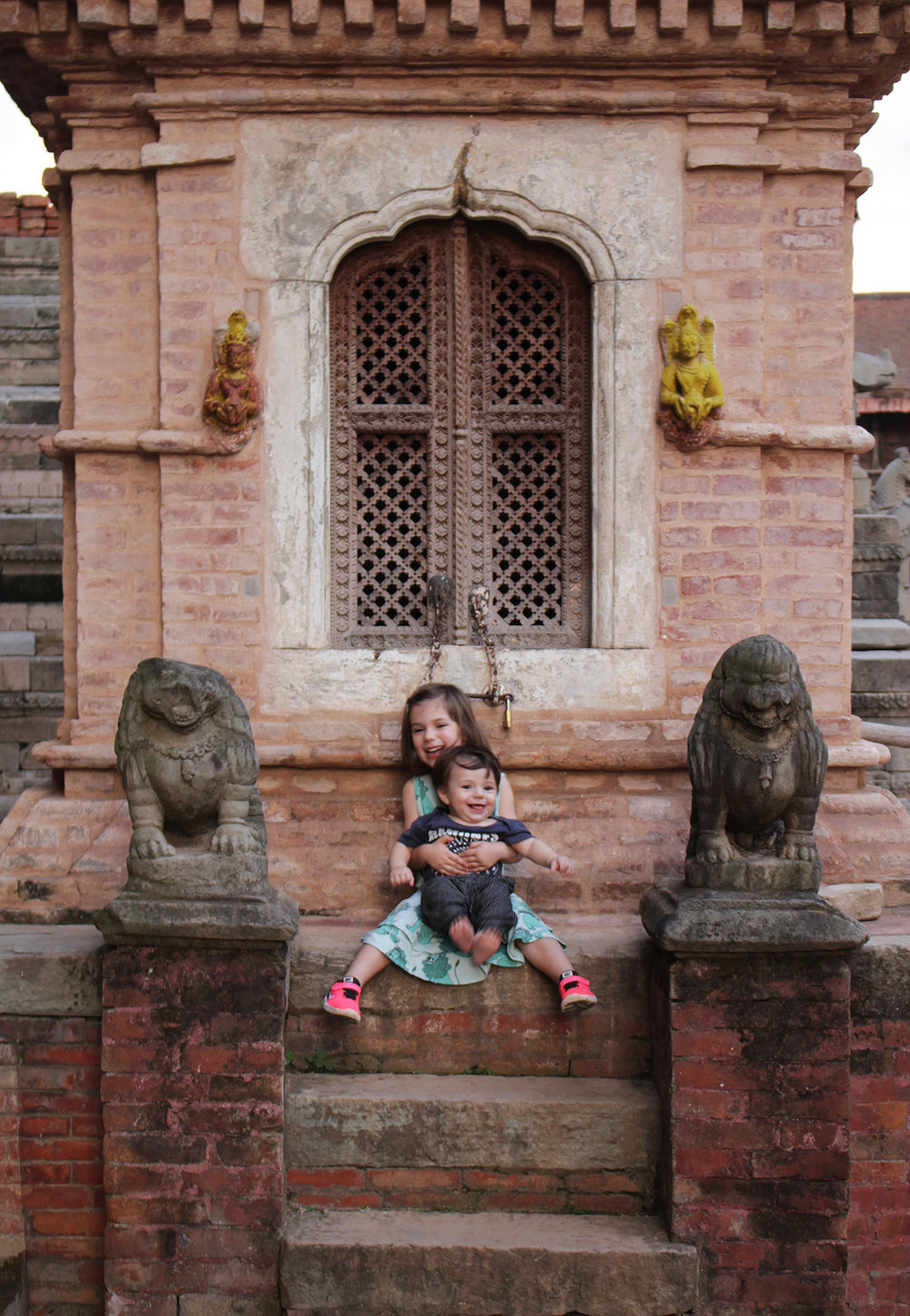 At the point when I was stood on a Kathmandu street corner, clutching my tiny crying baby with a bloodied nose, waiting for our lift to the hospital, I was done. I could honestly have flown home there and then. But then I reminded myself that this stuff happens wherever you are. -