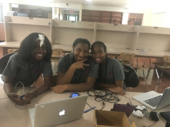 Students at the introductory Bulldog Bytes camps learn cyber-security basics: security vulnerabilities, cyber crime, and how attention to safe online behavior is crucial to their personal safety.