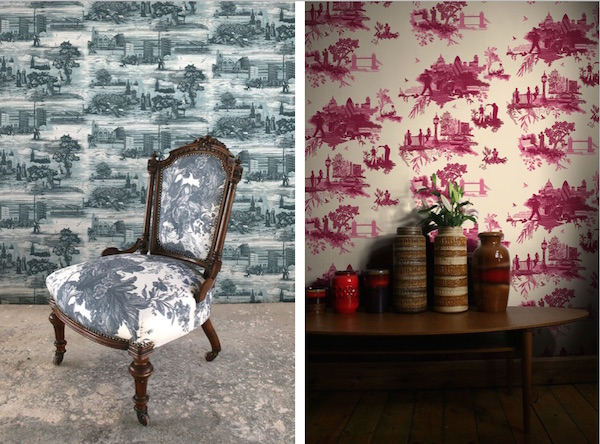 Glasgow Toile, £210 per roll; London Toile, £90 per roll; both Timorous Beasties