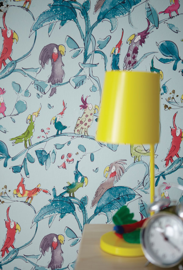 Cockatoos, Quentin Blake collection, Osborne & Little – £46 per roll
