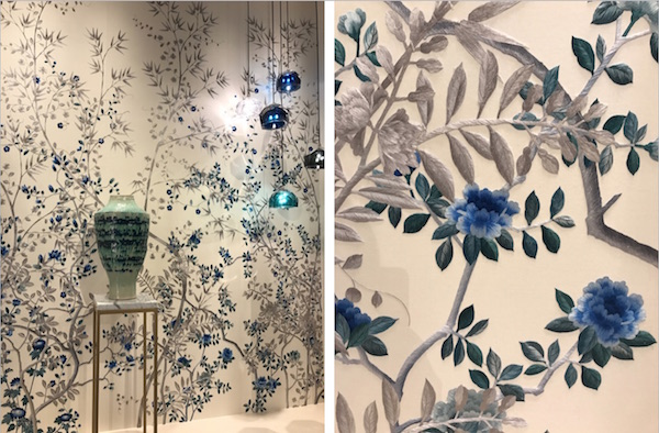 Paradiso embroidered chinoiserie in Sapphire, Fromental – price available on request