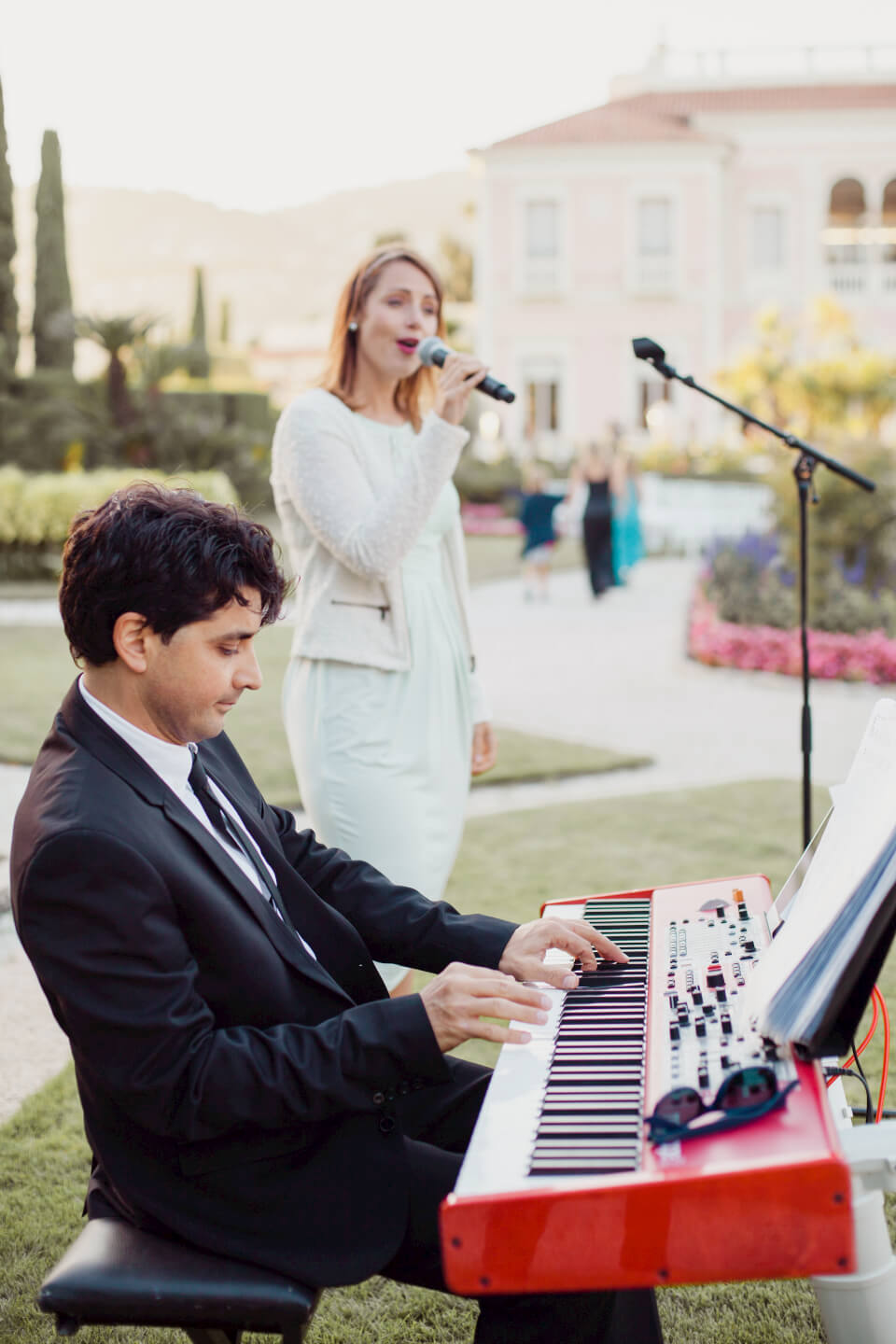 Music during the ceremony @ Villa Ephrussi de Rothschild
