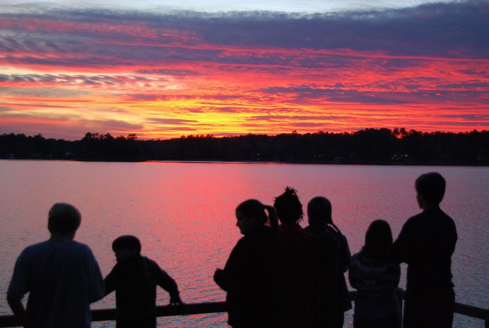 BCOC Fall retreat 2011, group sunset.jpg
