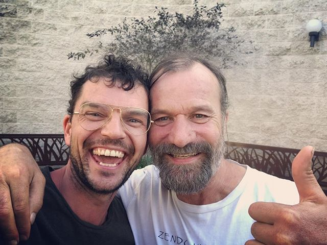 "Meeting ""the iceman"" Wim Hof - super nice guy aka peace warrior ☮️🕉✌🏻 #wimhofmethod #embracethecold #whm #losangeles #meditation #goodvibes #goodtimes #teachertraining #instructor"