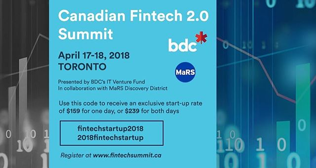 Looking forward to the #BDCFintech 2.0 Summit next week! For startups, see the below image for a discount code to join flowventures and many of the top FinTech minds at this summit. Was great last year!
