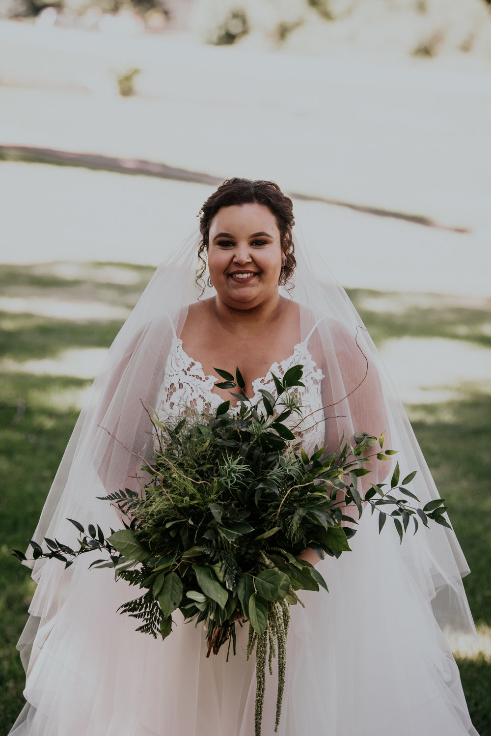 """Billy's favorite part of the day was seeing his bride walk down the aisle towards him.""""She was so pretty,"""" said Billy. -"""