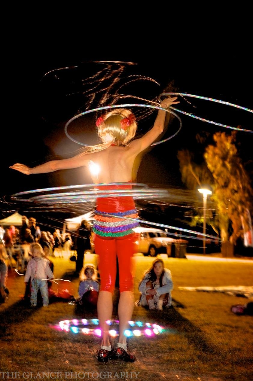 Hoops performance at the Mullum Circus Festival