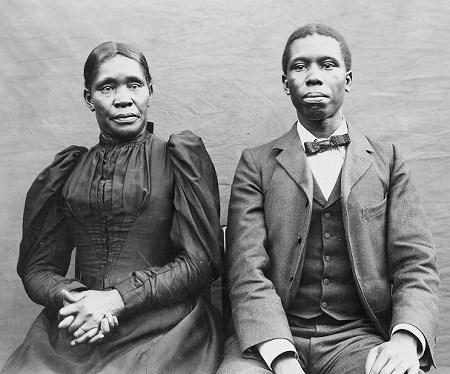 Paul Laurence Dunbar with his mother, Matilda Burton Murphy Dunbar, c. 1900.