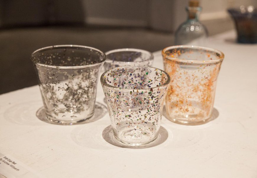 Glass cups by CIT Cooper J.