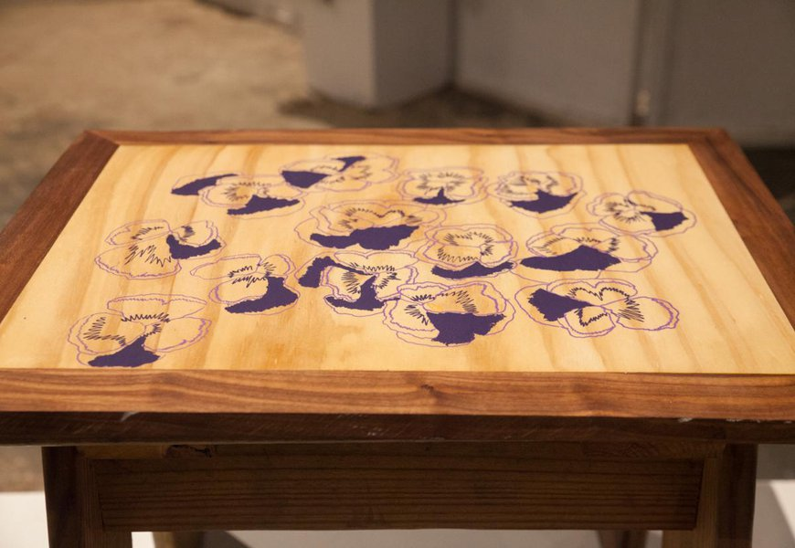 Wood table by CIT Jayna K.