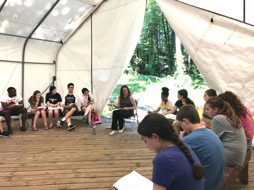 Rehearsing for Romeo & Juliet in the Igloo.