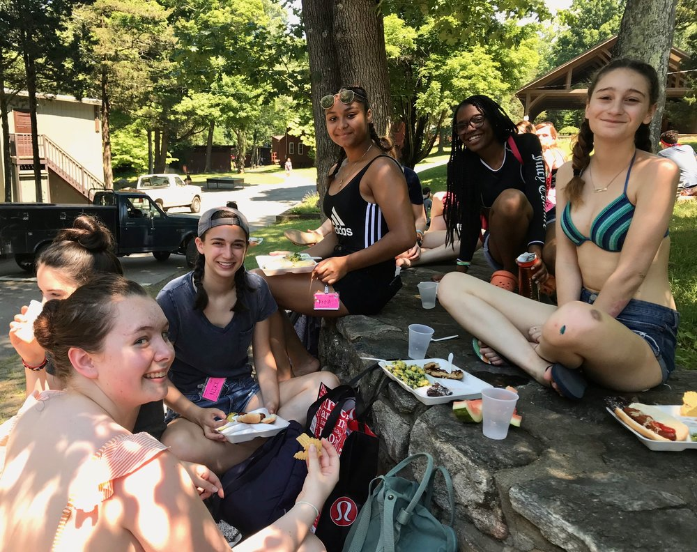 CITs enjoying our first picnic lunch of the summer.