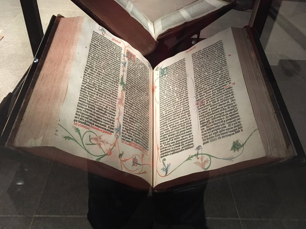 Yes, that really is a  Gutenberg Bible !