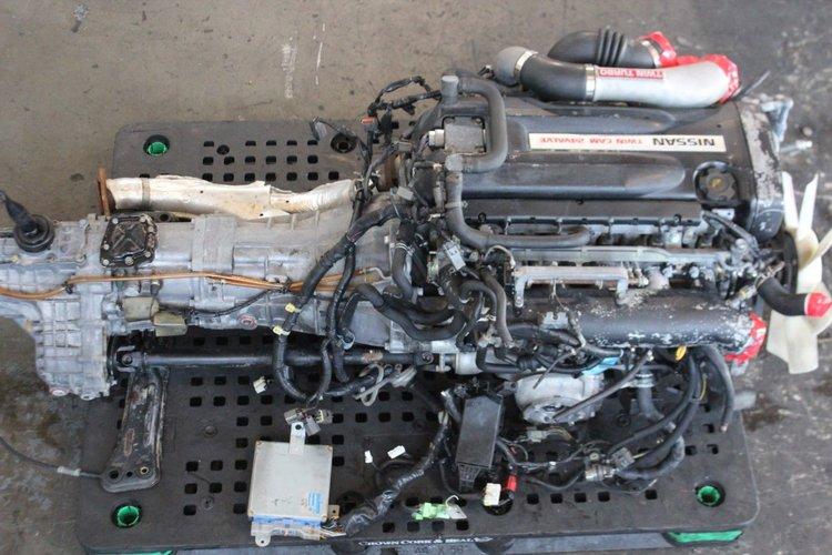 89-93 nissan skyline gt-r r32 engine awd manual trans wiring ecu jdm  rb26dett