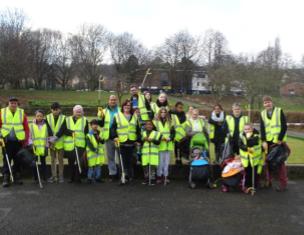 Litter-picking in Winn Gardens housing estate help foster good relationships and improve the neighbourhood