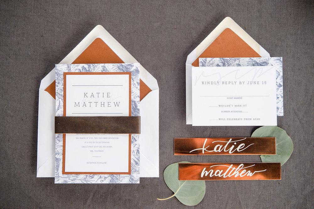 Four 13 Designs Colorado Wedding Invitation Designer Vail