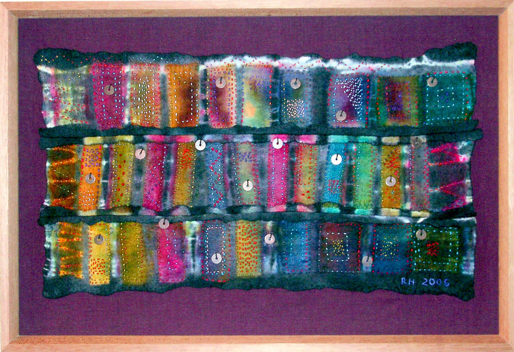 Felt Wall Hanging with Beads