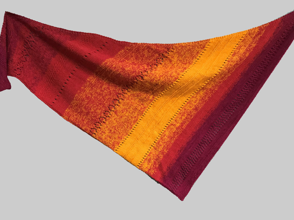 Red and Gold Shawl