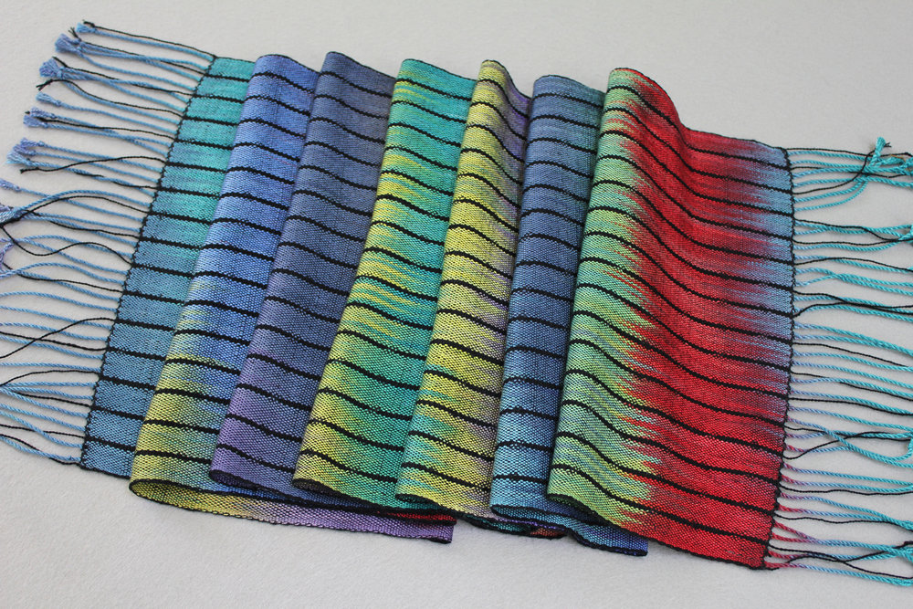"""Rainbow Shawl"" Handwoven"