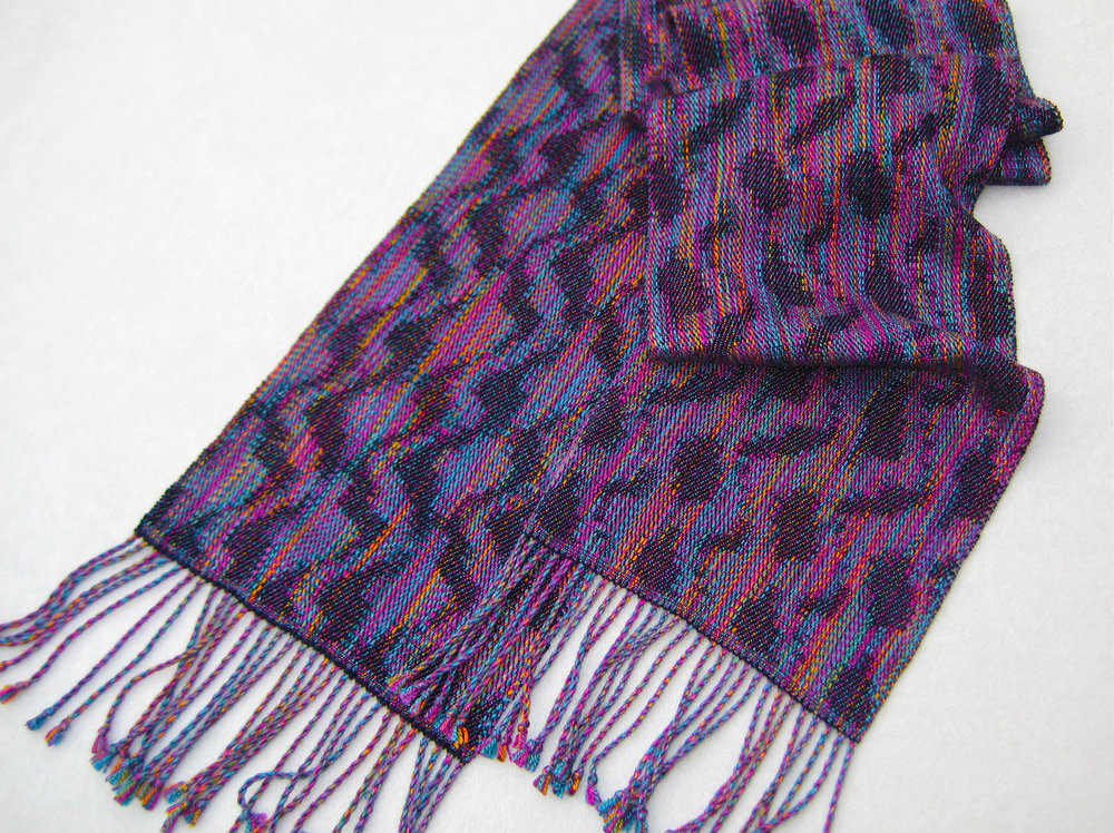 """Squiggles"" Handwoven Scarf"