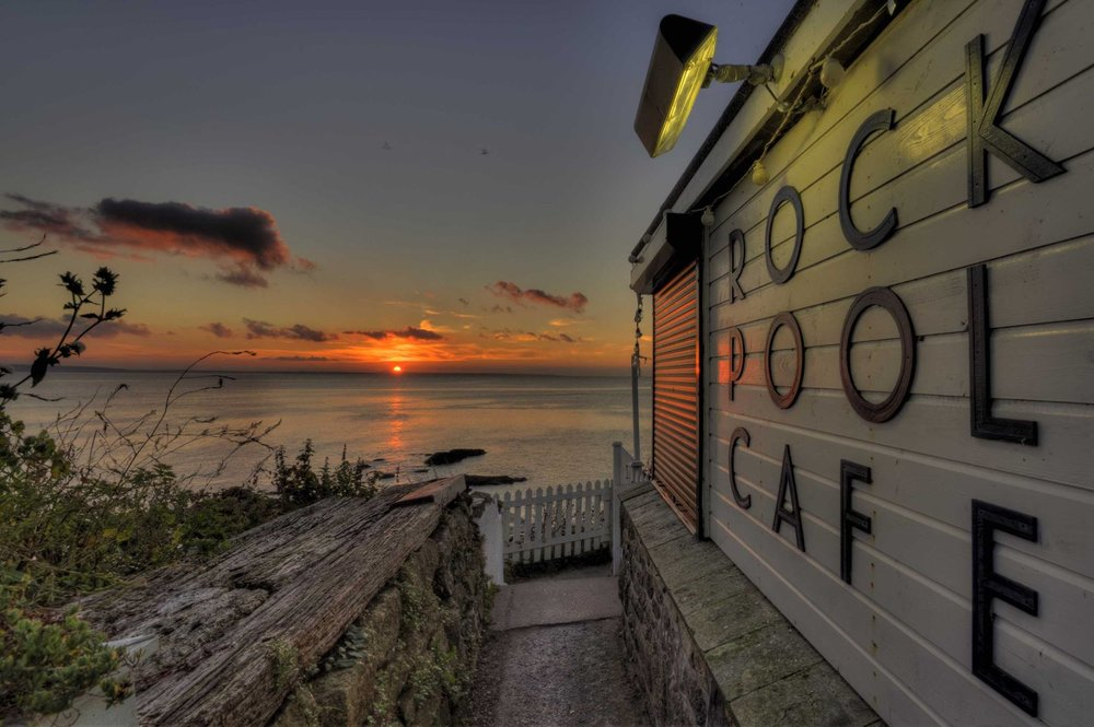 Rock Pool Café at Sunset