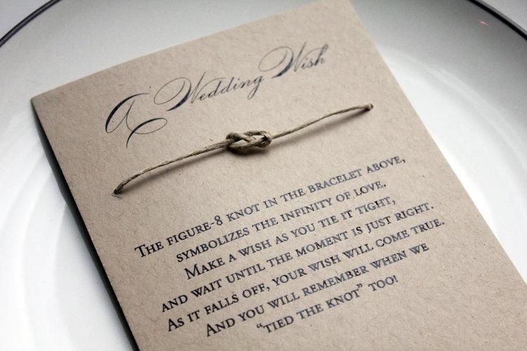 Rustic Wedding Favors Wish Bracelet Wedding Favors Barn Wedding