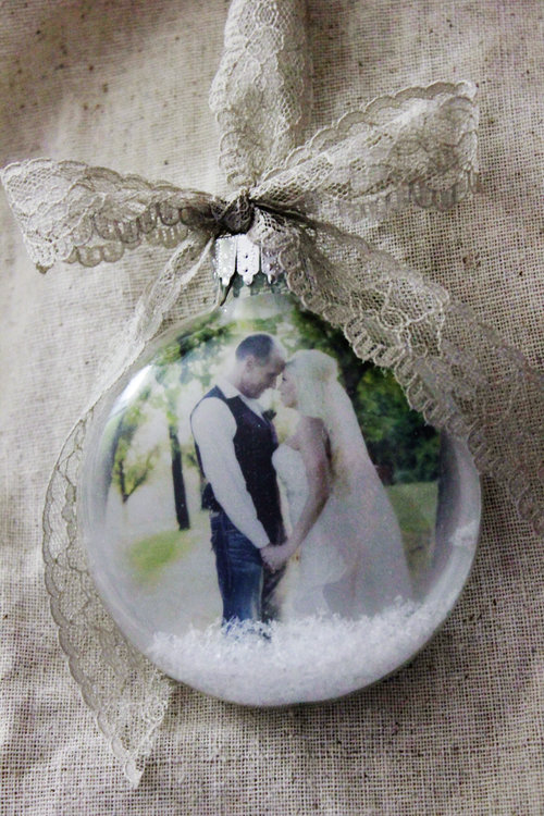 our first christmas as mr and mrs rustic ornament lace first married christmas picture ornament our first christmas photo ornament - Our First Married Christmas Ornament