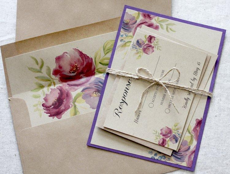 516f3abc123e Purple Wedding Invitations
