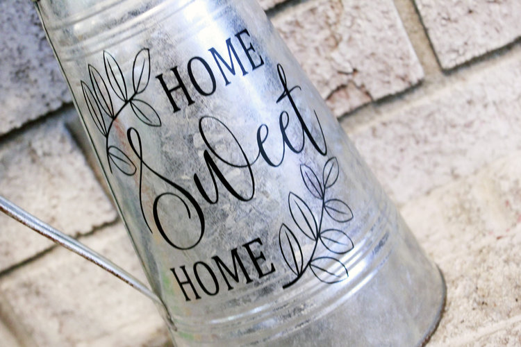 Galvanized Steel Home Decor Modern Farmhouse Metal Water Pitcher Rusted Watering Can Accents Vases
