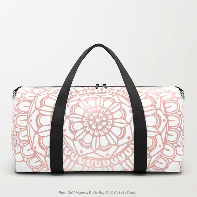 Rose Gold Mandala Duffle Bag