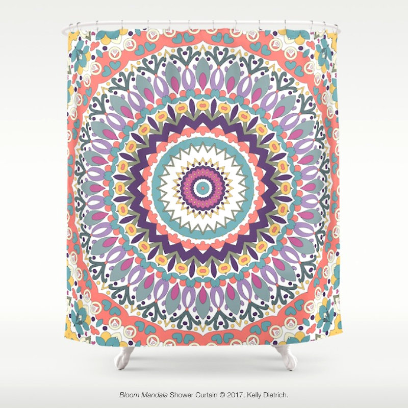 Bloom Mandala Shower Curtain