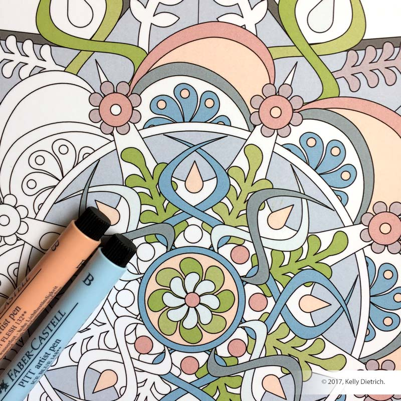 Coloring Mandalas, Volume 1 Cover