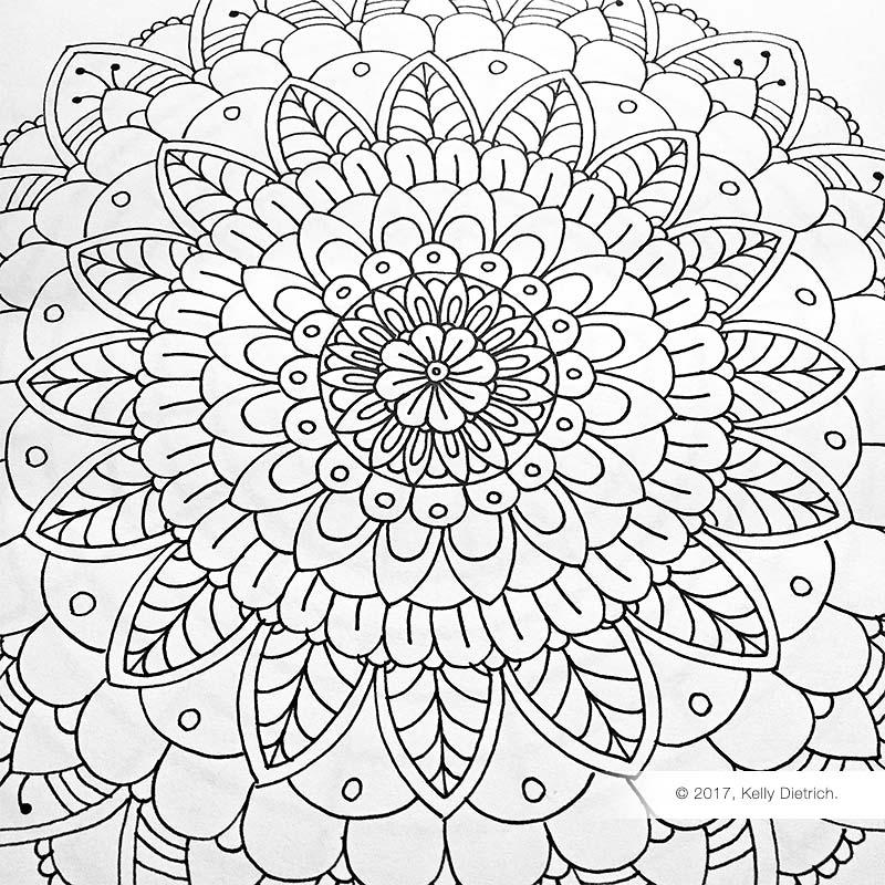 Free Mandala Template For Hand Drawn Mandalas Kelly Dietrich