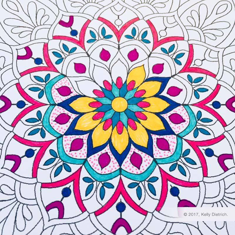 flower mandala free printable mandala coloring page kelly