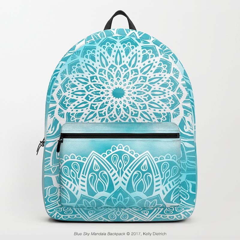 Blue Sky Mandala Backpack - 30% off today (12/11/17) in my Society6 shop.