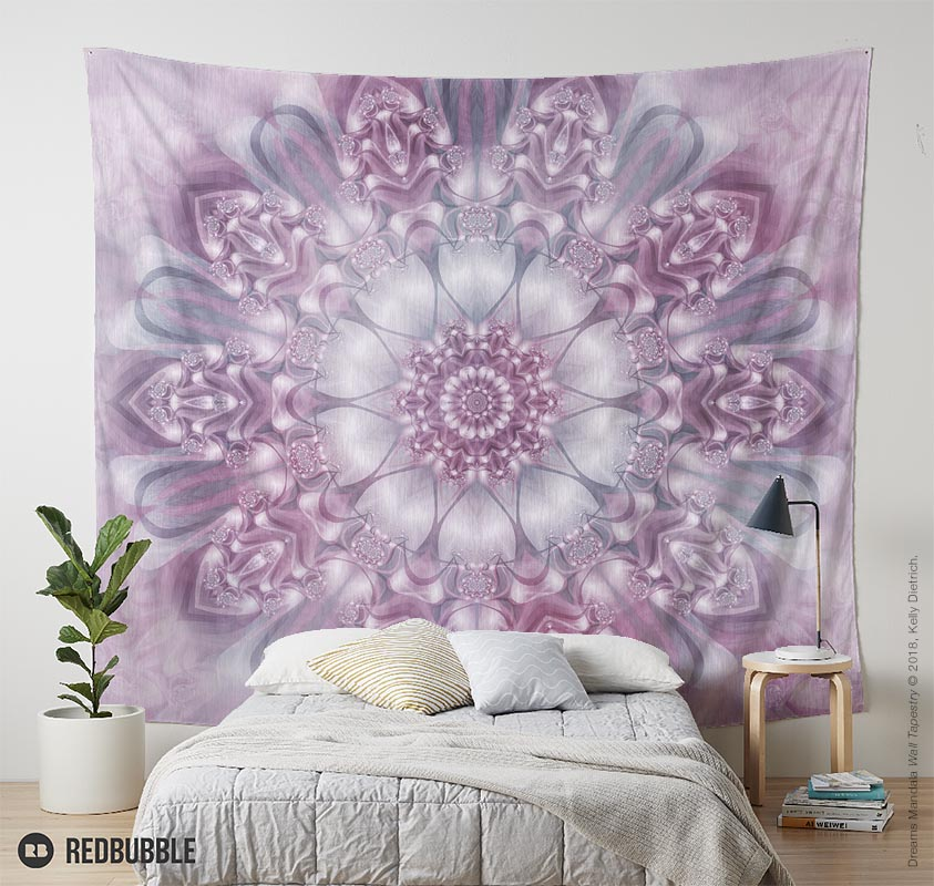 Dreams Mandala Wall Tapestry available in my Redbubble shop.