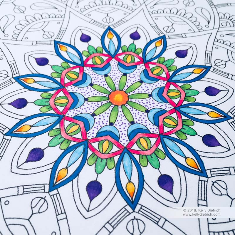 New printable mandala page, Joy Mandala. Download free here!