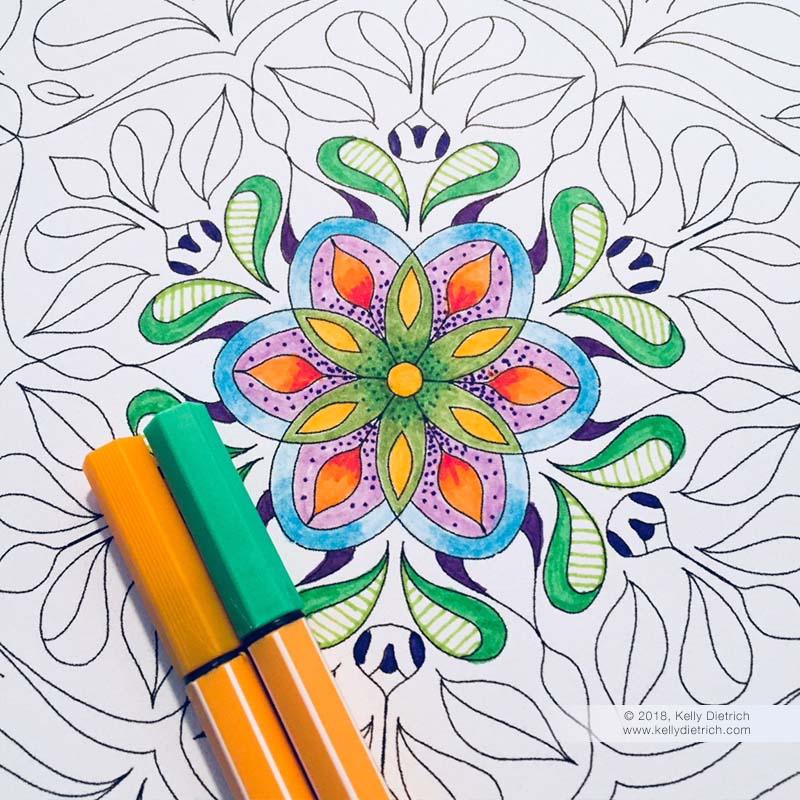 Dreaming of Spring Free Mandala Coloring Page